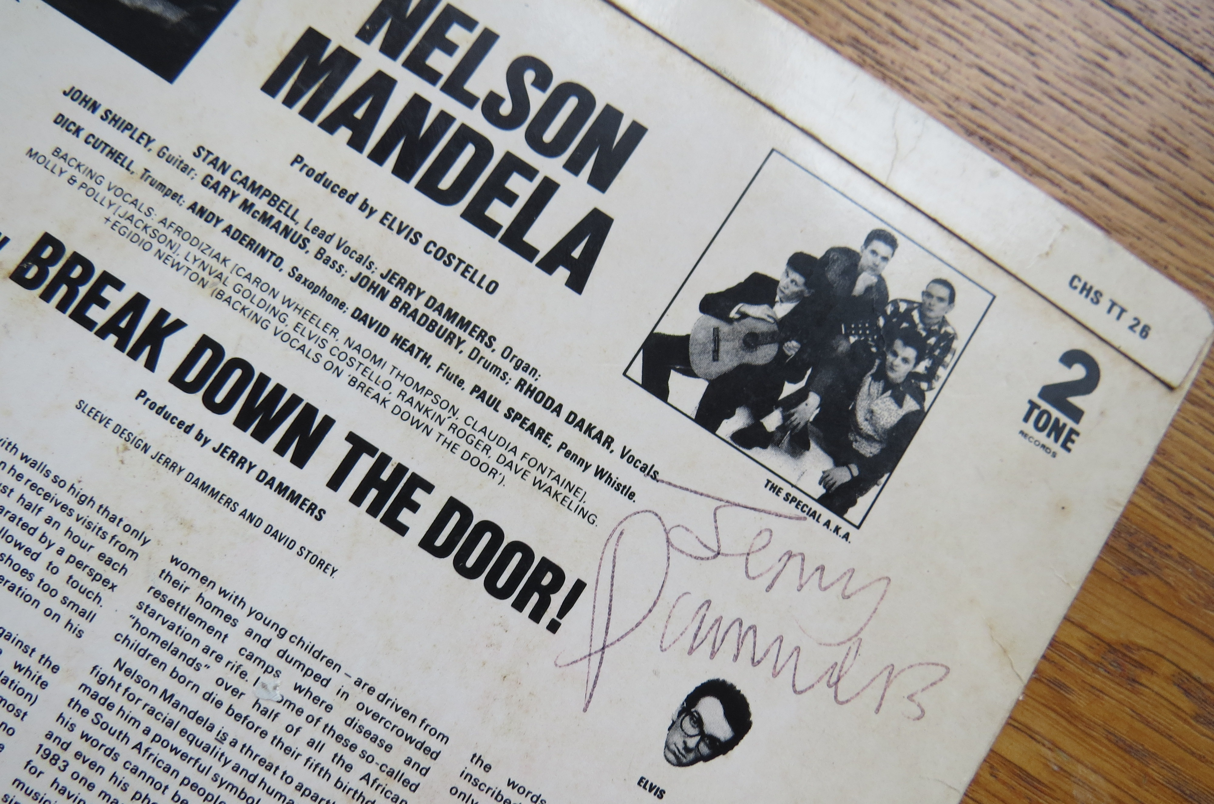 Close-up of Jerry Dammers's autograph!