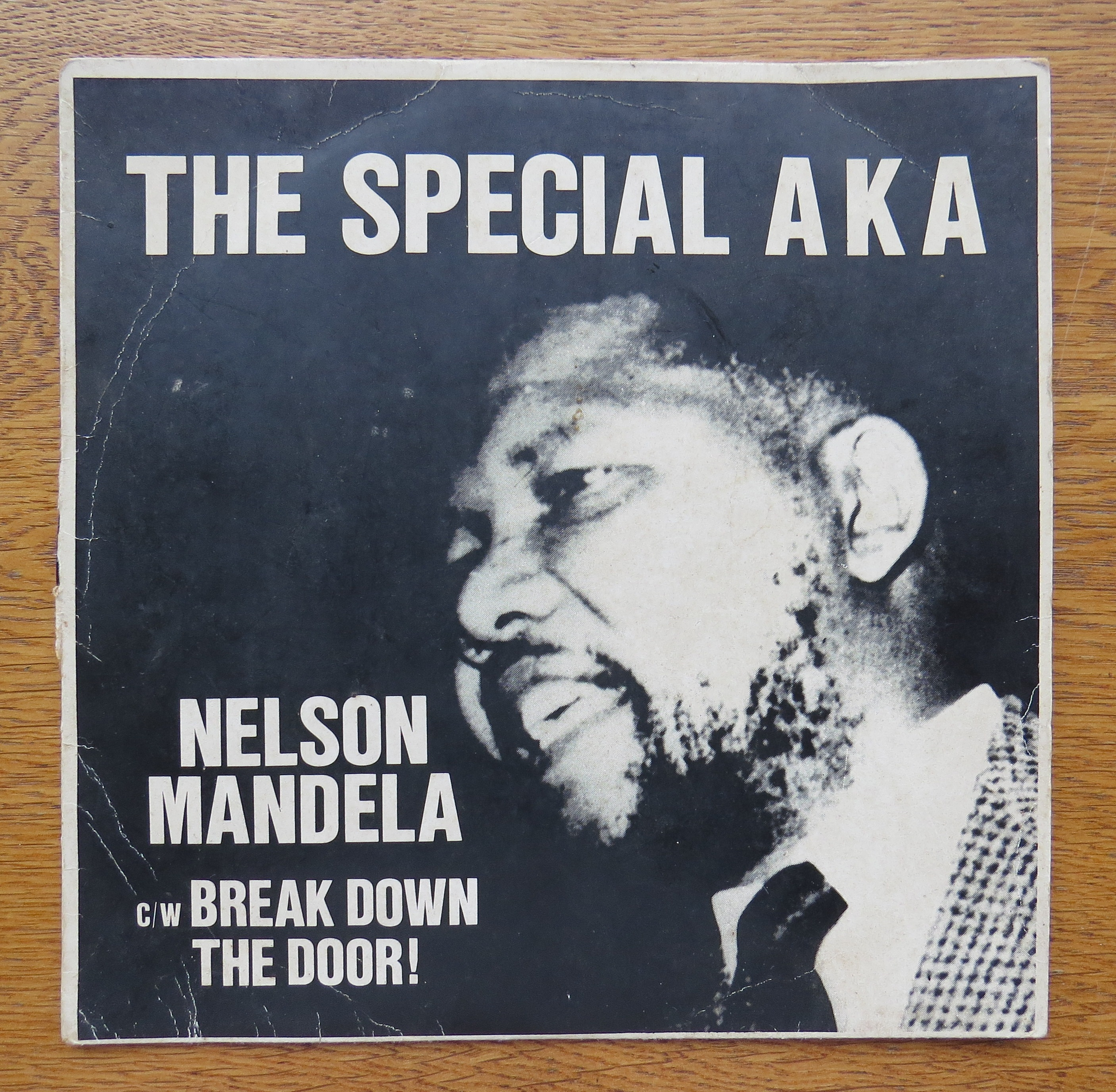 """Record  cover of Jerry Dammers's 1984 hit single """"Free Nelson Mandela"""""""