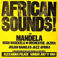 The internationally televised Wembley concert for Mandela's 70th was not the first to celebrate his birthday; this poster advertises the concert for his 65th in 1983