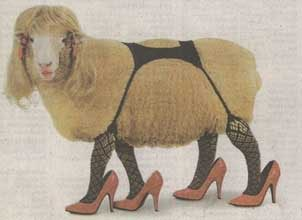 Mutton dressed as high-heeled and garter-belted lamb