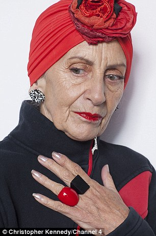 Fab Fashionista Bridget Sojourner, 75, who buys her turbans and other stylish clothing in charity shops