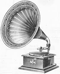 Sold by the British Gramophone company, also known as a phonograph, this one is 100 years old.