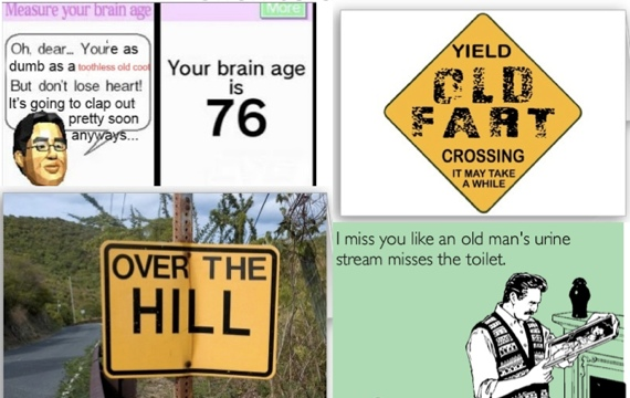 posters etc mocking old people