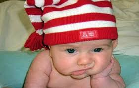 Internet meme of bored baby - probably                                           made by bored adult