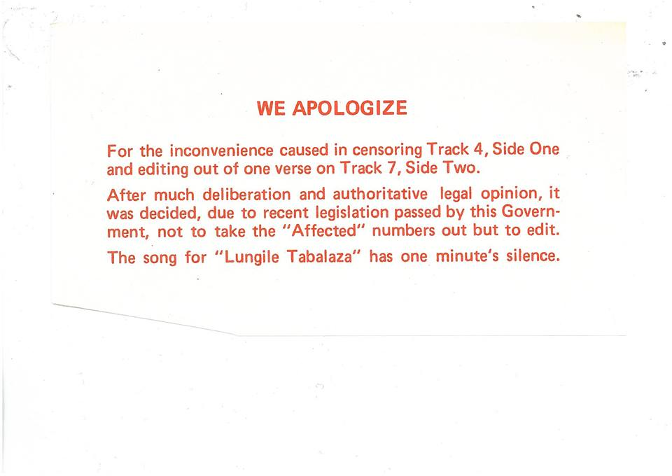 3rd apology for silence sted Lucey track
