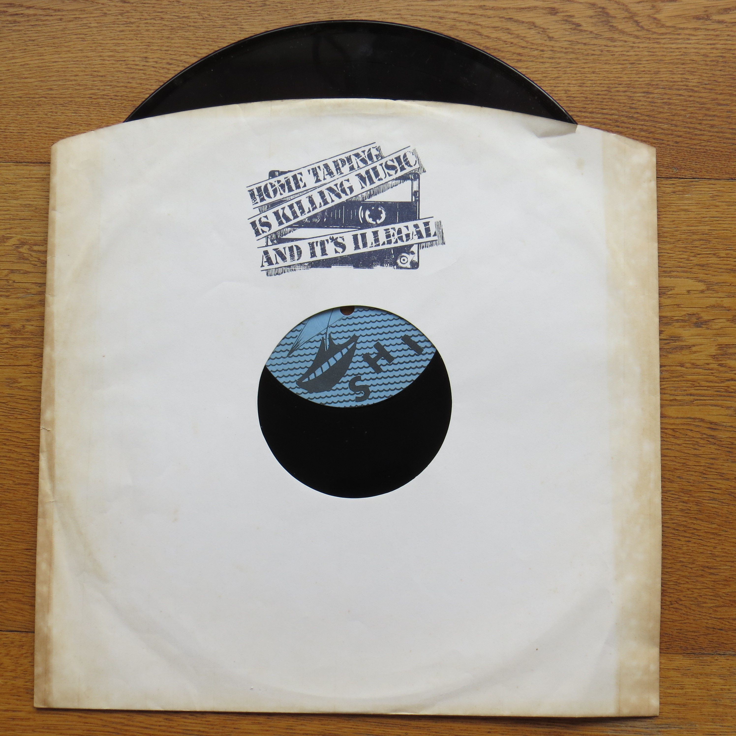Shifty record sleeve saying Home Taping is Killing Music