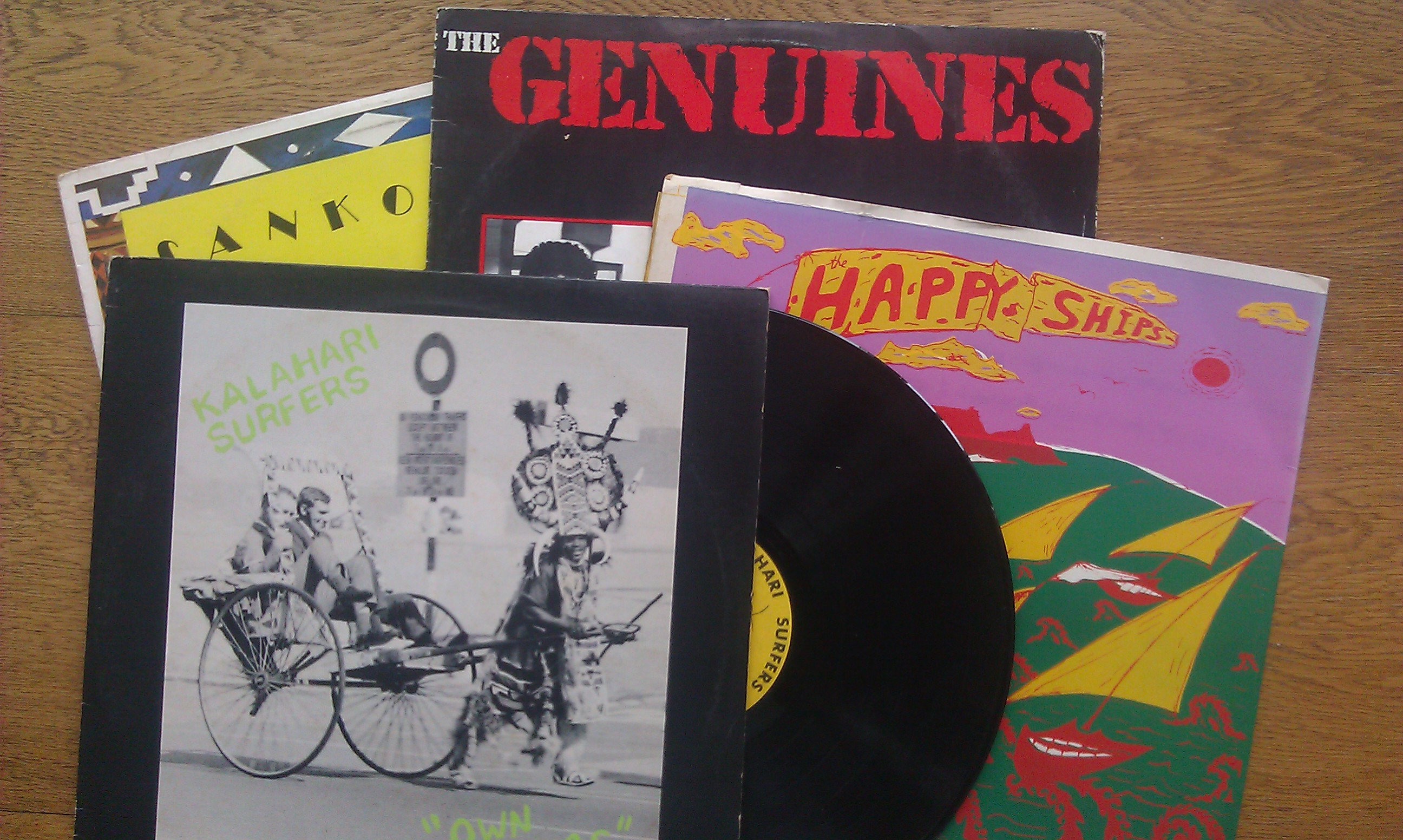 shot of 4 Shifty record albums from 1980s