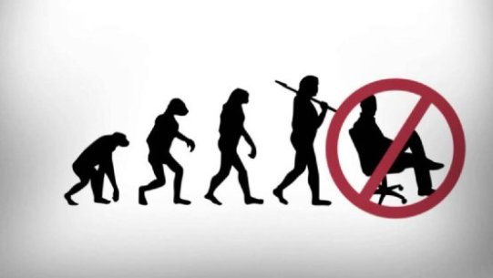 human beings evolved to stand - not sit