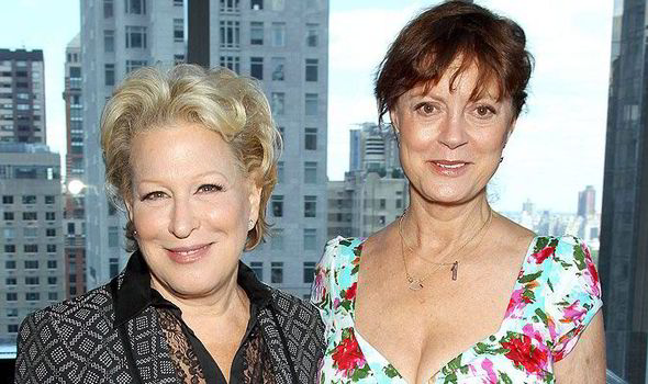 Susan Sarandon with Bette Midler