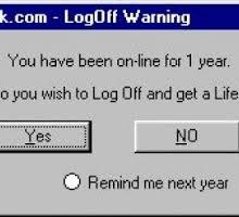 joke about Facebook addicts who never log ogg