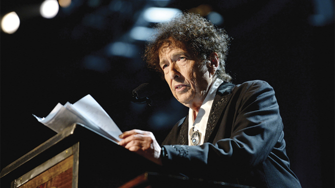 Bob Dylan speech at MusiCares award