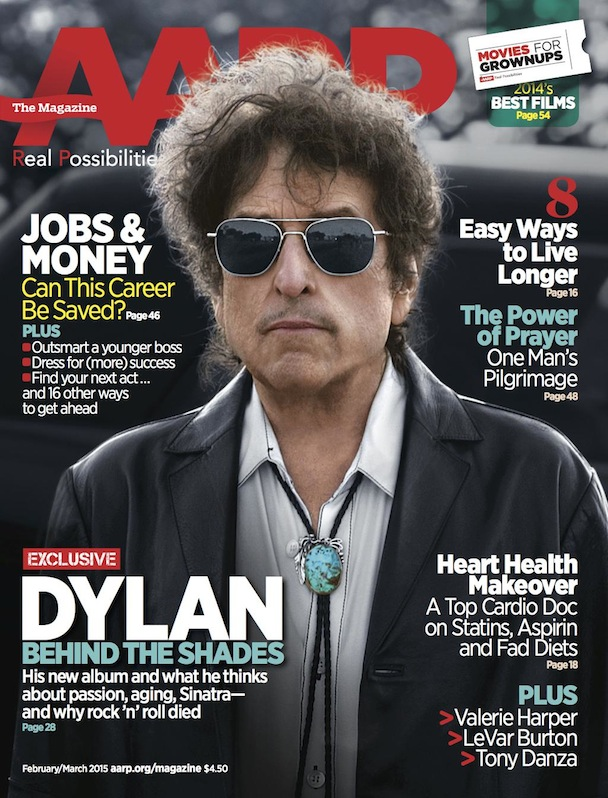 Bob Dylan on cover of AARP magazine