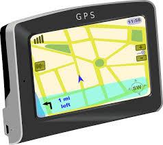 GPS satellite navigation device in car