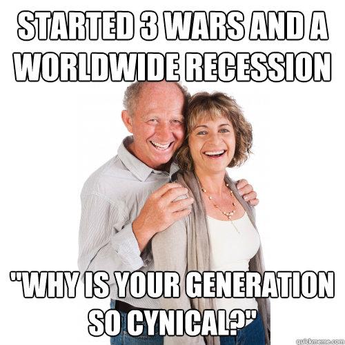 meme criticizing Boomers' parents