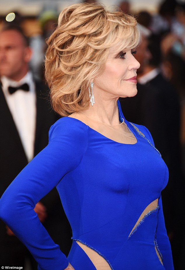 Actress Jane Fonda at Cannes Film Festival