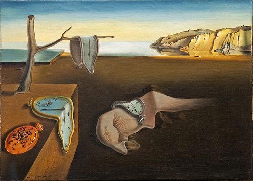 Salvador Dail's painting The Persistence of Memory