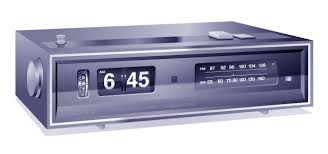 digital display of time on clock radio