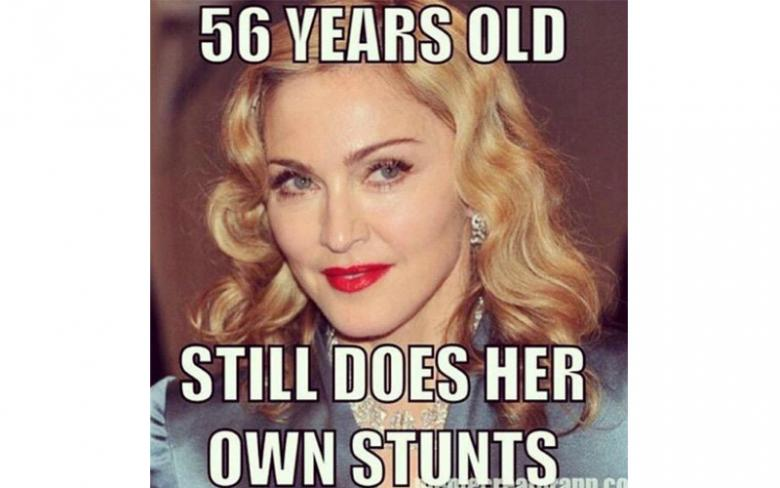 Meme about Madonna fall at Brit Awards