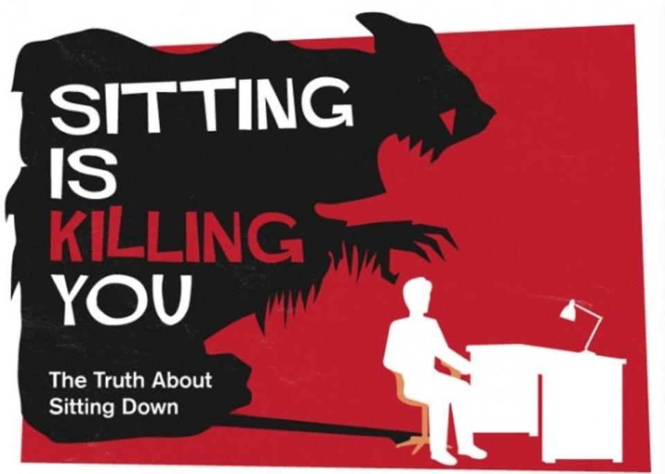 Sitting is killing you poster