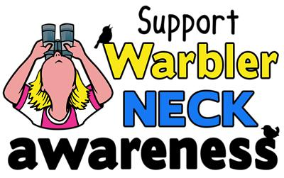 Warbler Neck awareness sticker