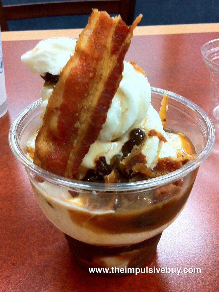 Bacon Sundae on menu at Burger King