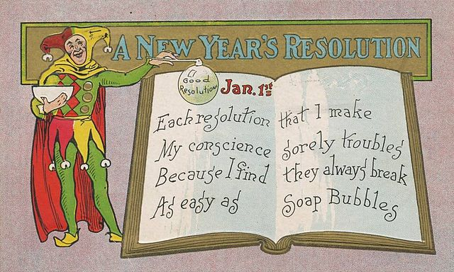 New Year's Day postcard from1909.