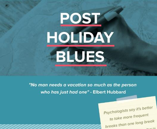Post-holiday blues poster