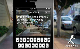 This Type n Walk app can be downloaded on your cellphone