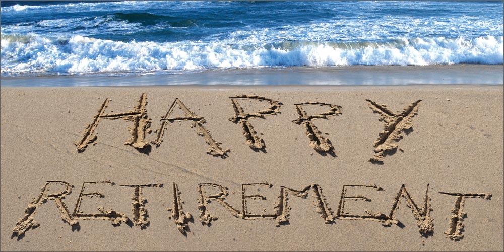 Happy Retirement beach