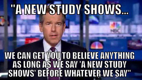 meme on new study shows