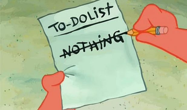 To Do list: Do Nothing