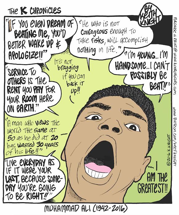 Muhammad Ali comic of quotes
