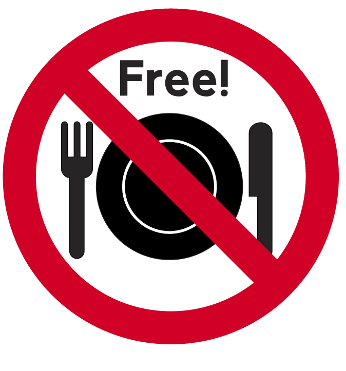 No Free Lunch sign