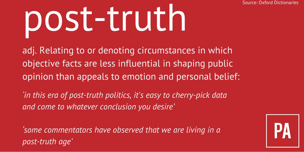 post-truth definition of word of the year