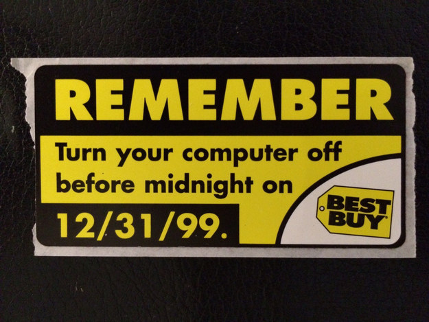 Reminder to turn computers off before midnight on 31 December 1999