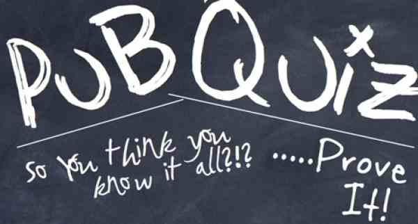 pub quiz chalkboard