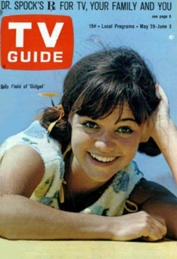 TV Guide cover with Sally Field sitcom Gidget 1965