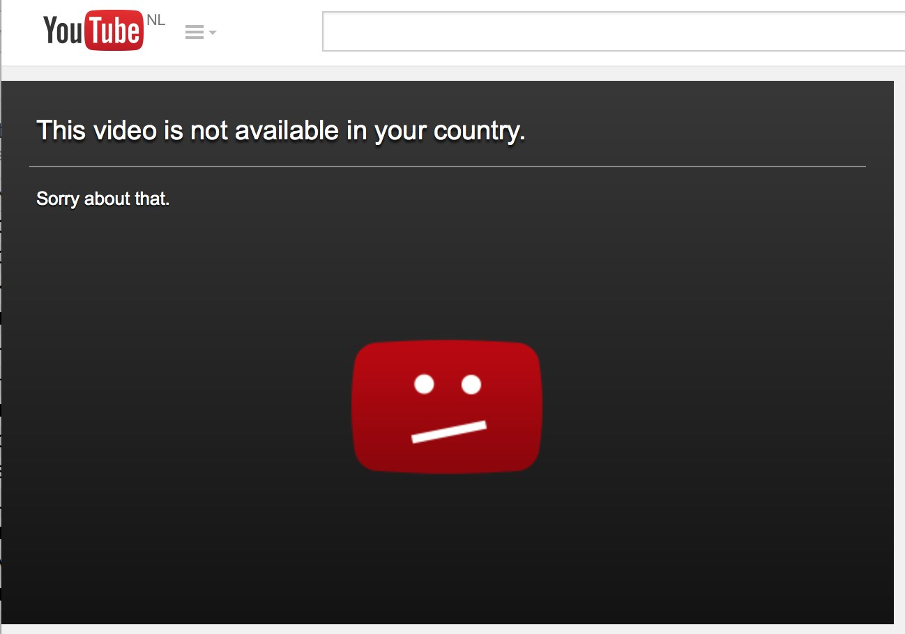 screen redirect - sorry this video not available in ur country
