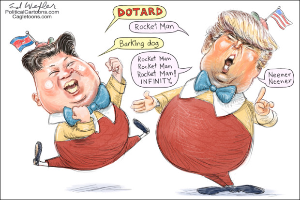 Trump and Kim on dotard