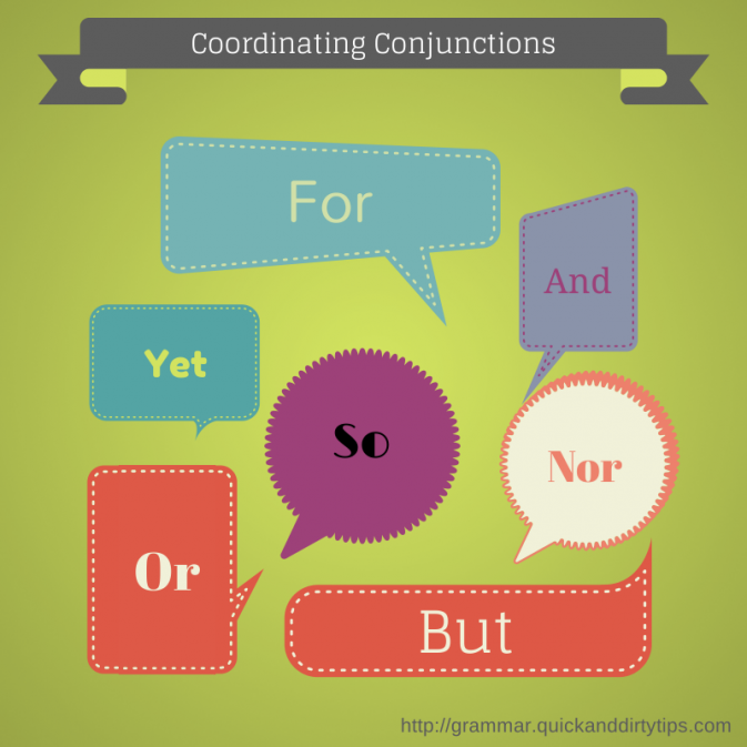 FANBOYS conjunctions