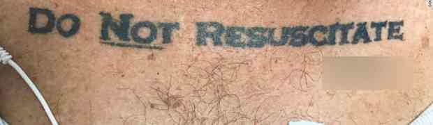 Do Not Resuscitate - read my DNR tattoo